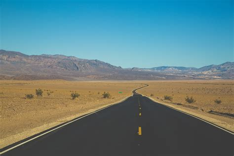 road, Desert, Mountains, Clear sky, Nature Wallpapers HD ...