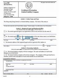 form tx certificate of formation for a limited liability With llc documents texas