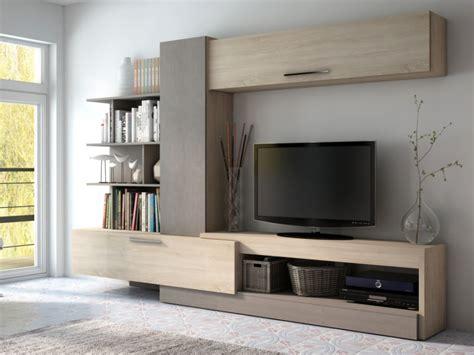 mueble tv  espacios de almacenaje roble  topo spike