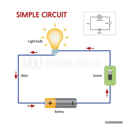 Simple Circuit That Consists Battery Switch