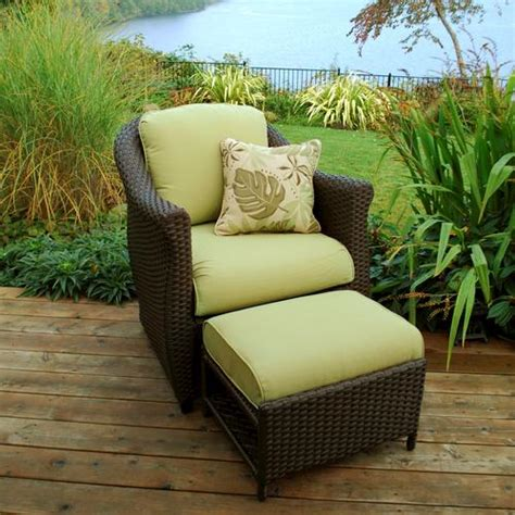 sterling home patio etta woven patio chair  hidden