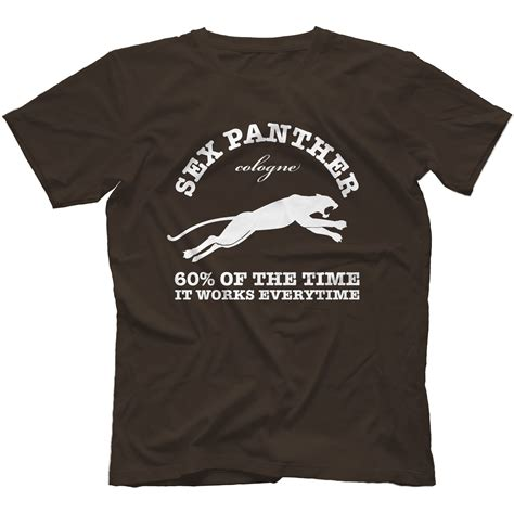 anchorman inspired sex panther t shirt 100 cotton ron