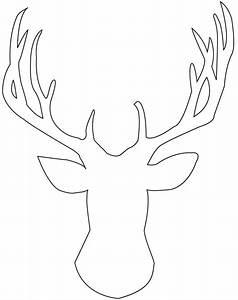 DIY: Stag Head Silhouette Art