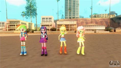 My Little Pony Equestria Girls Mod V1 For Gta San Andreas