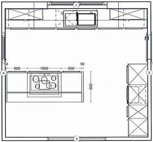Kuchenplanung grundriss wotzccom for Küche mit kochinsel grundriss