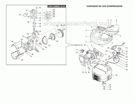 bostitch air compressor parts diagram automotive parts diagram