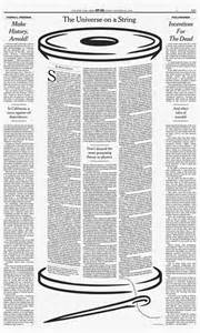 New York Times Newspaper Layout