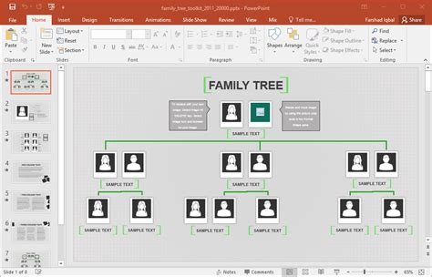 animated family tree  template  powerpoint
