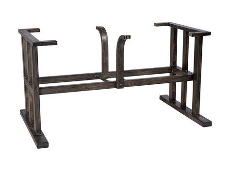 woodard trestle large aluminum dining table base 2q8400