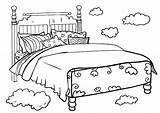 Coloring Bed Beds Bunk Template sketch template