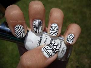 Fashionable Tribal Nail Art For Short Nail Ideas: DIY ...