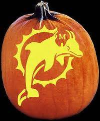Nfl Pumpkin Carving Ideas by Spookmaster Nfl Football Miami Dolphins Pumpkin Carving