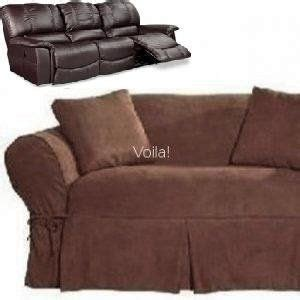 couch covers for reclining sofa dual reclining sofa couch slipcover suede chocolate brown
