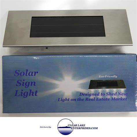 solar powered sign light for real estate signs ebay