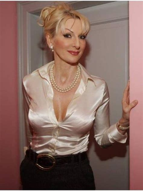 Mature Lady In Satin Blouse Mature And Sexy Satin