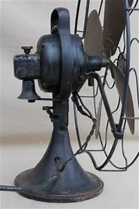 Antique Ge Brass Blade Fan  Vintage Industrial Fan W   Loop Handle Aou Af2
