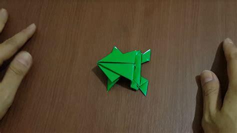 membuat origami hewan kodok  mudah youtube
