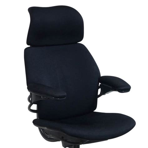 humanscale freedom used high back task chair black