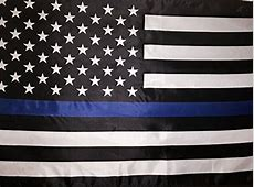Thin Blue Line American Flag 3 by 5 Foot Flag Honoring