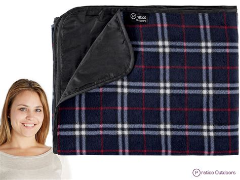 Extra Large Picnic, Xl Outdoor, Stadium Blanket-waterproof Back Plaid Navy Blue Pattern For Crochet Blanket Kambrook Electric Blankets To Scottish Lambswool Ellery Homestyles Welsh Tapestry Pratesi Cashmere Paris Prince And Jackson