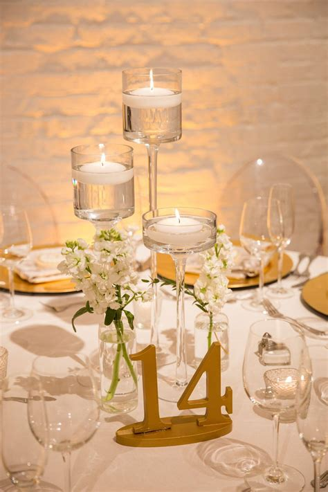 wedding table numbers gold chez chicago wedding venue