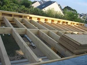 Toiture Metallique Pour Maison : isolation toit terrasse ossature bois ~ Premium-room.com Idées de Décoration