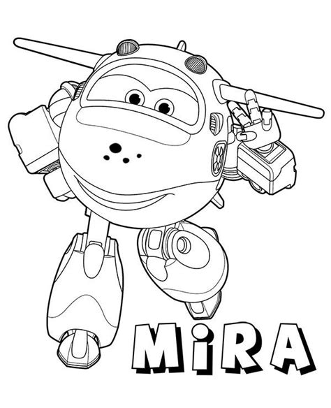 mira plane coloring pages    print