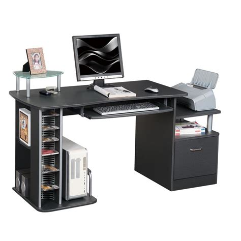 bureau informatique noir bureau informatique noir s 202a 85