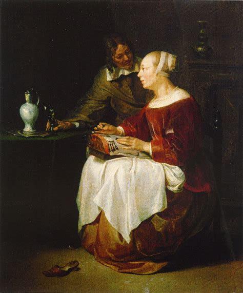 panel lace attributed to gabriel metsu the lacemaker