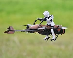 FPV Star Wars Speeder Bike Quadcopter Make: