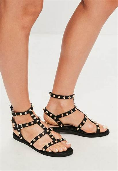 Gladiator Sandals Studded Missguided Shoes Womens Payless