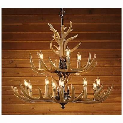 Antler Chandelier Deer Cabin Ceiling Antlers Rustic