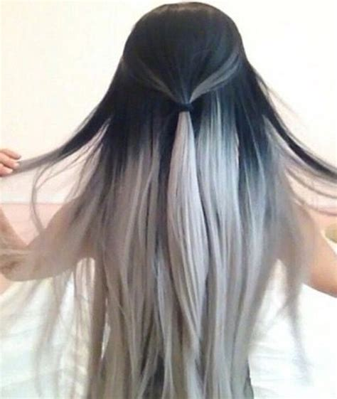 black and white hair color 35 bold ombre hair colors the new trend in 2016