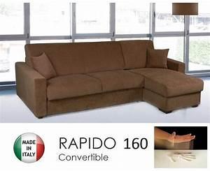 canape d39angle convertible rapido 160cm dreamer tissu With canapé d angle convertible matelas 14 cm