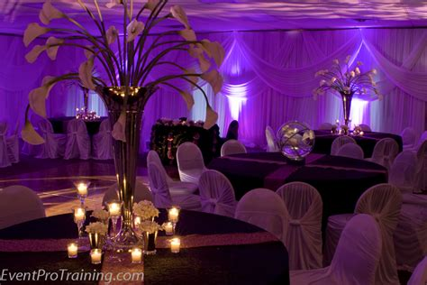Black And Purple Wedding Decoration Ideas