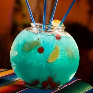 Coconut Rum Signature Cocktail  Mermaid Fish Bowl