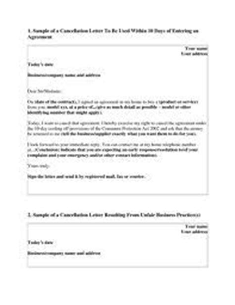 cancellation letters images business