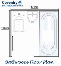 bathroom floor plan Bathroom converted to a Shower Room with Bathroom Storage