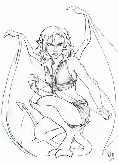 Gargoyles Disney Gargoyle Female Deviantart Cartoon Drawing