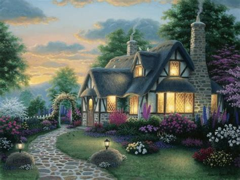 austin cottage fine art print  richard burns