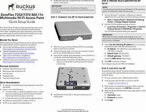 Ruckus Wireless Zf7372 802 11 A  B  G  N Wireless Access