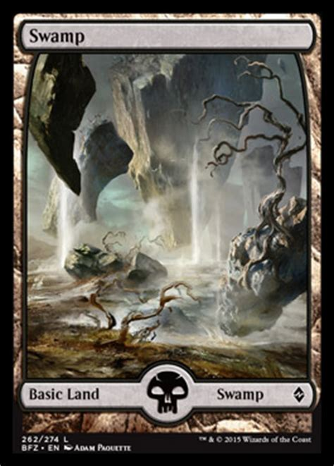 swamp battle  zendikar mtg visual spoiler