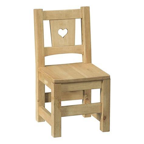 chaises enfants chaise enfant brut prêt à peindre avec coeur achat
