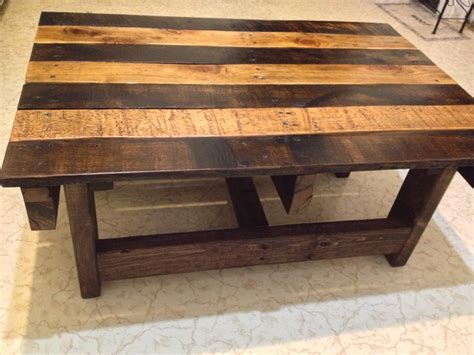 woodwork reclaimed wood coffee table plans  plans