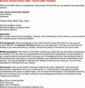 cover letter for science teacher resume With cover letter for science teacher position