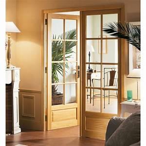 Porte d39interieur bois chenonceaux pasquet menuiseries for Porte de garage coulissante et porte d interieur double vantaux