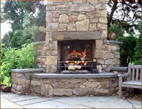 Bbq And Fireplace - outdoor fireplace and grill designs outdoor furniture