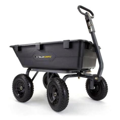 gorilla carts 1 200 lb heavy duty poly dump cart gor6ps