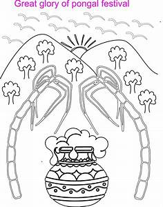 Free for pongal festival coloring pages