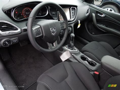 Black Interior 2013 Dodge Dart Limited Photo #75520666